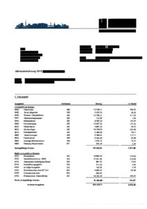 Hausgeldabrechnung Beispiel Seite 1