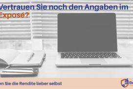 Renditeberechnung von Immobilienangeboten bei Betonrendite.de