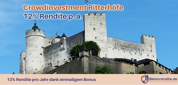 Immobilien-Crowdinvesting: Ritterhöfe mit 12% Rendite